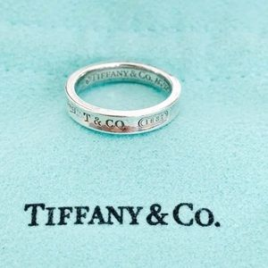 Tiffany & Co. 1837 Sterling Silver Narrow ring